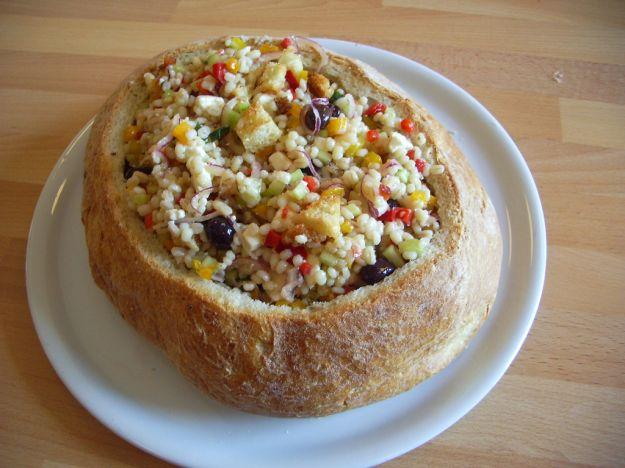 insalata di orzo perlato vegetariana