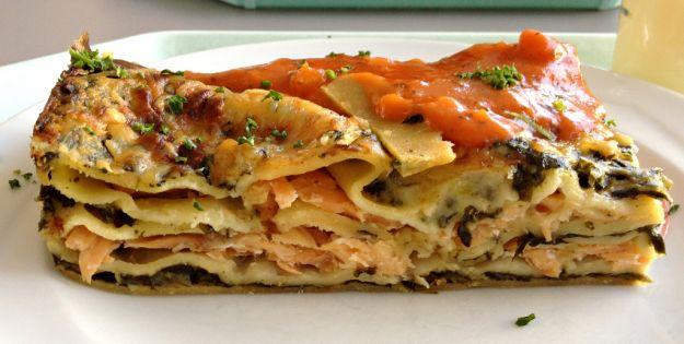 Lasagna di asparagi e salmone