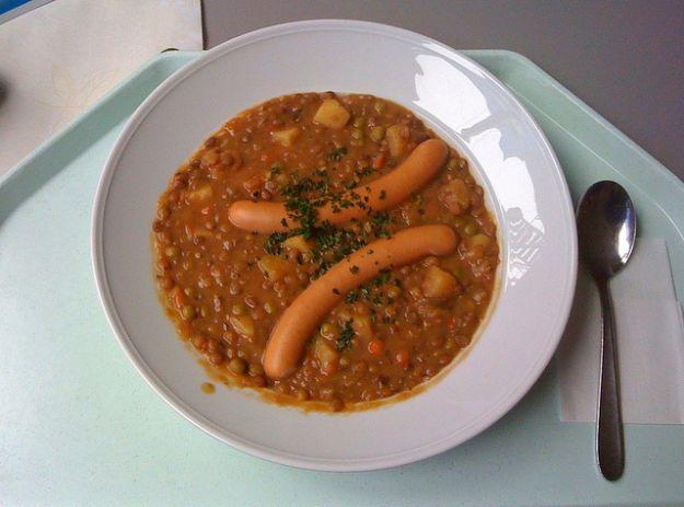 lenticchie con wurstel per la ricetta di capodanno