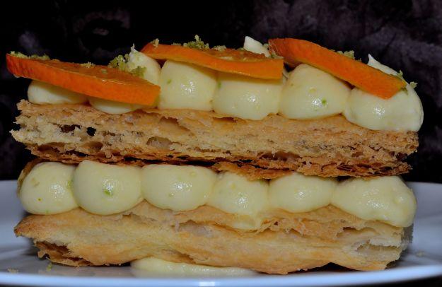 Millefoglie di banana e arance