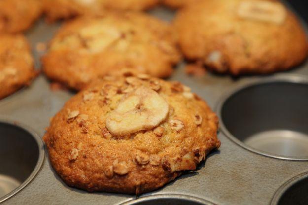Muffin senza glutine alla banana e noci