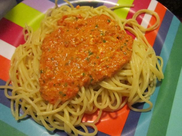 Pasta con peperoni
