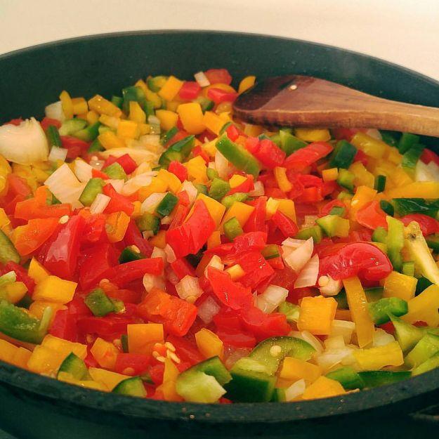 Peperoni al curry