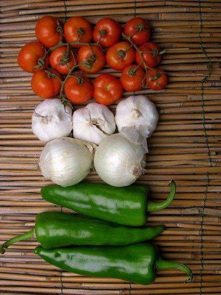 peperoni cipolle pomodori a bandiera italiana