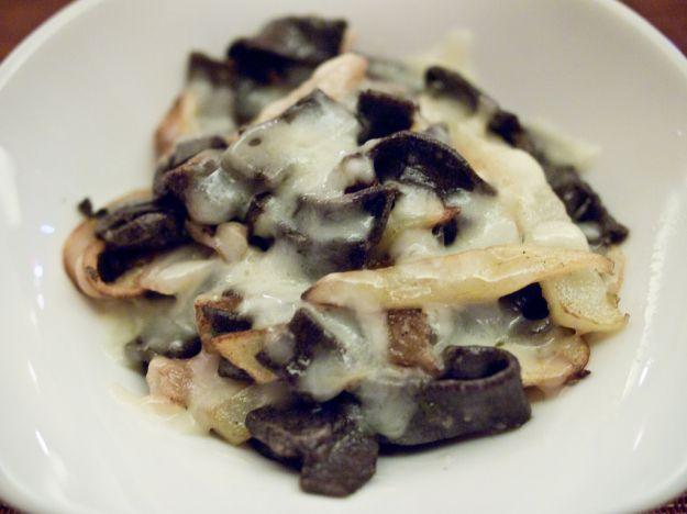 Pizzoccheri con patate e crema di uova