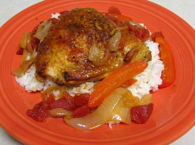 pollo verdure