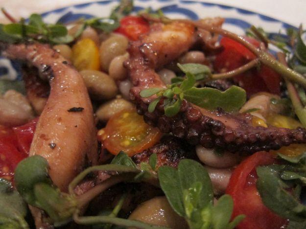 Polpo in insalata con verdure