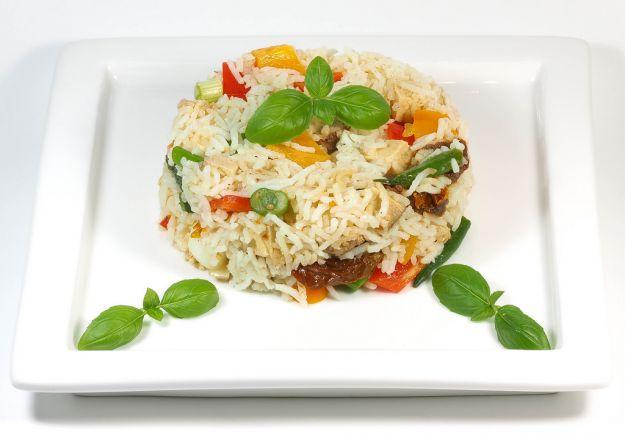 riso con pesce e verdure