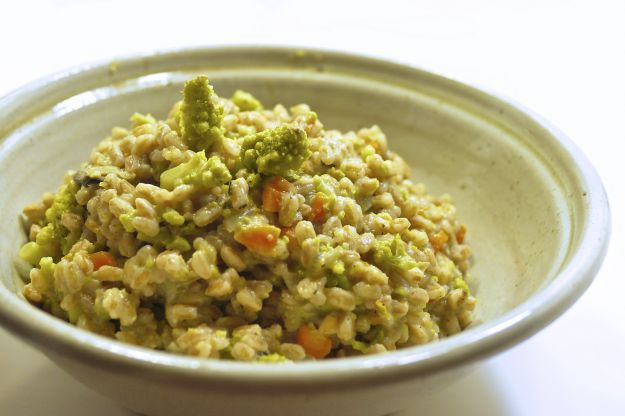risotto con broccoletti e pancetta