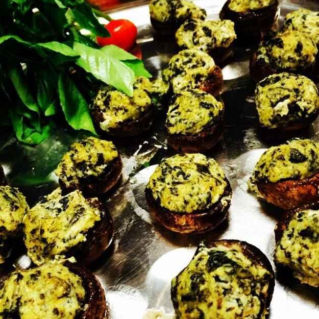 Sformatini di funghi e spinaci