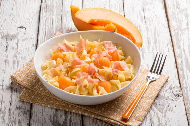 Pasta fredda con Prosciutto Crudo di Parma e melone