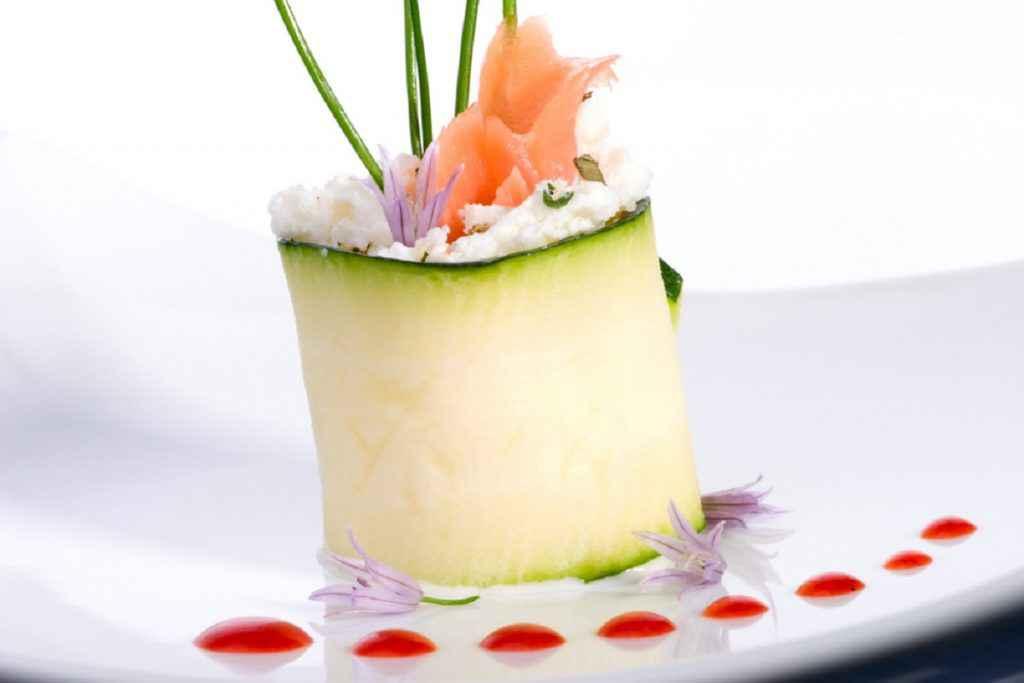 involtini zucchine e salmone con philadelphia