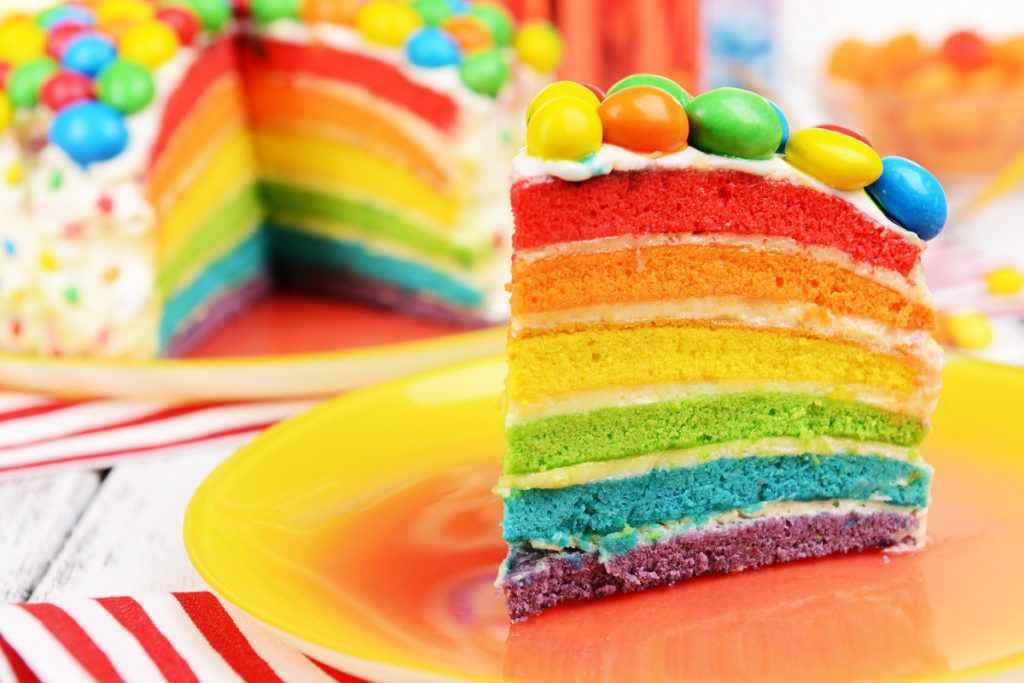 torta arcobaleno o arlecchino