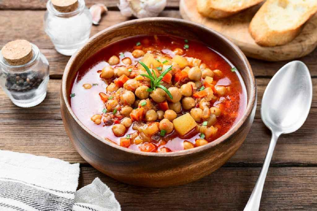 zuppa ceci e patate
