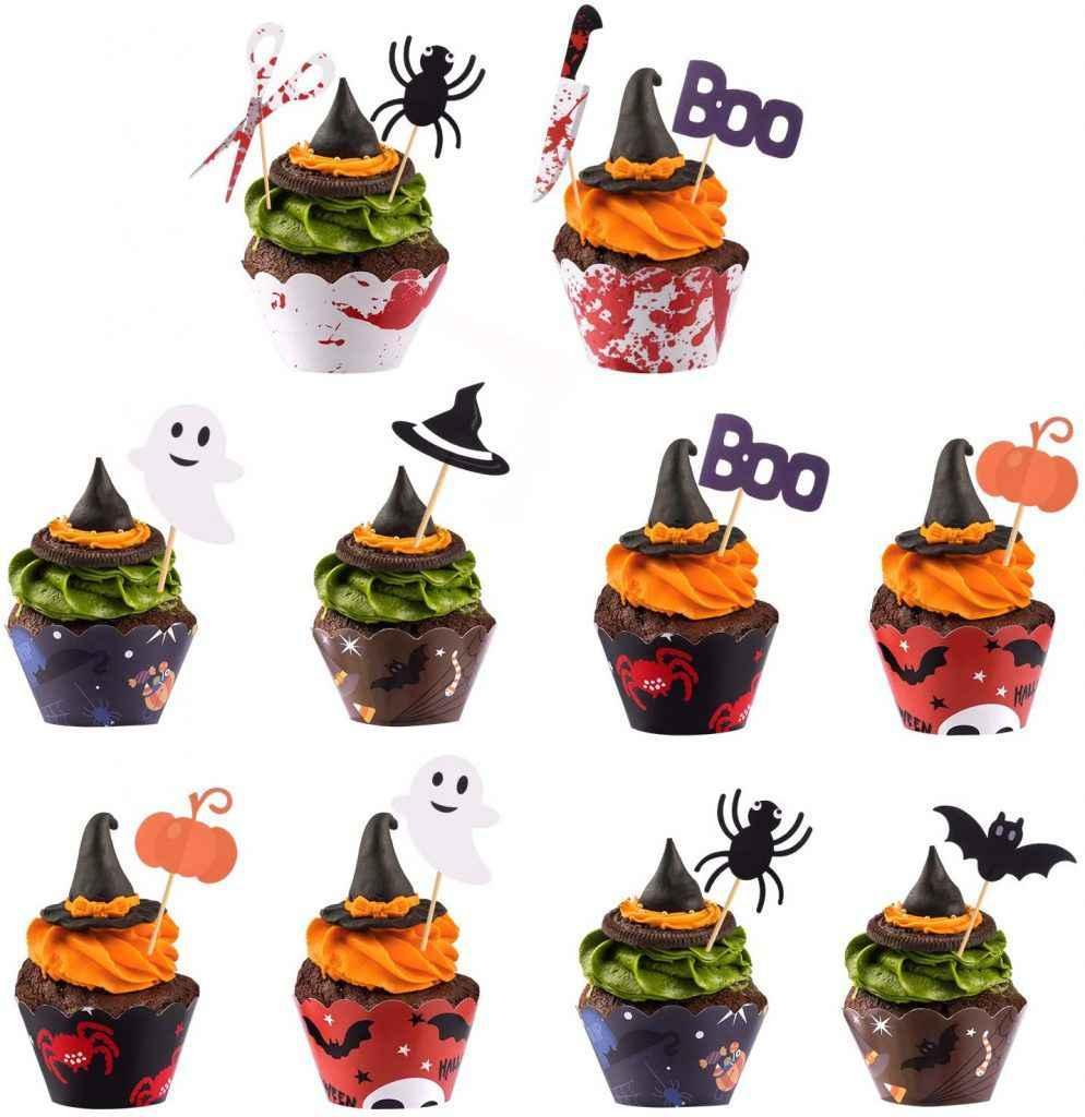 Decorazioni spaventose per cupcake di Halloween