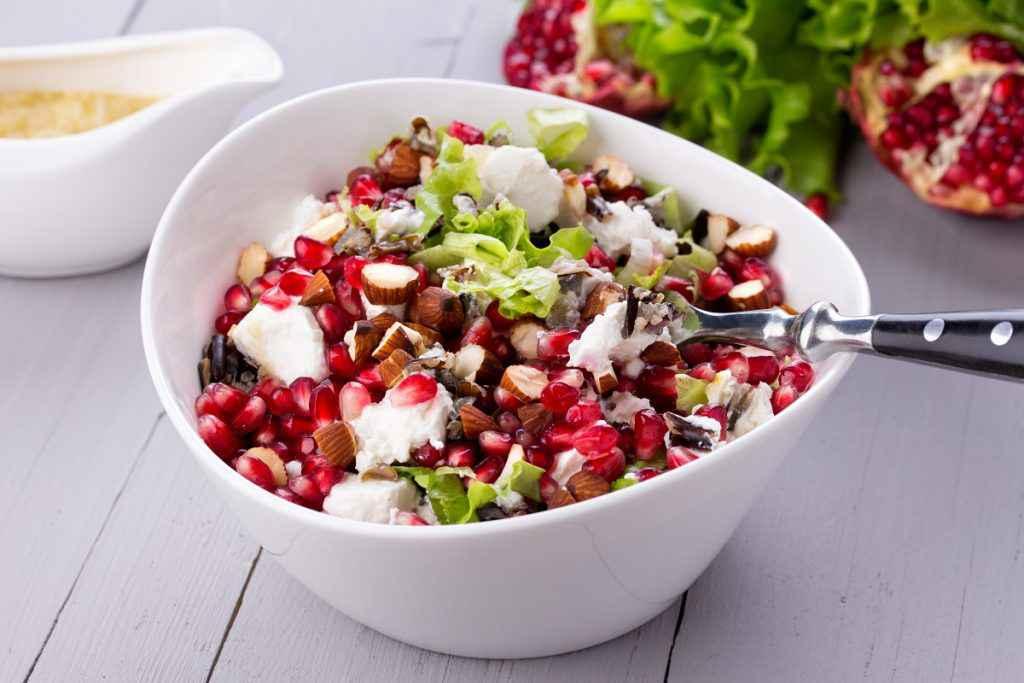 insalata con melograno mennu economico capodanno
