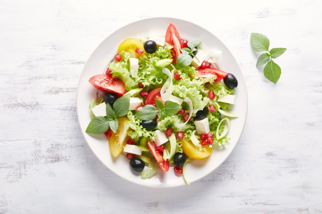 insalata melograno e olive