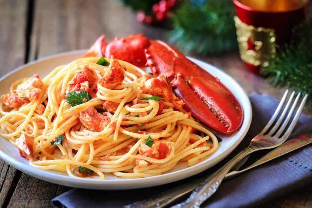 Spaghetti all'astice con pomodorini