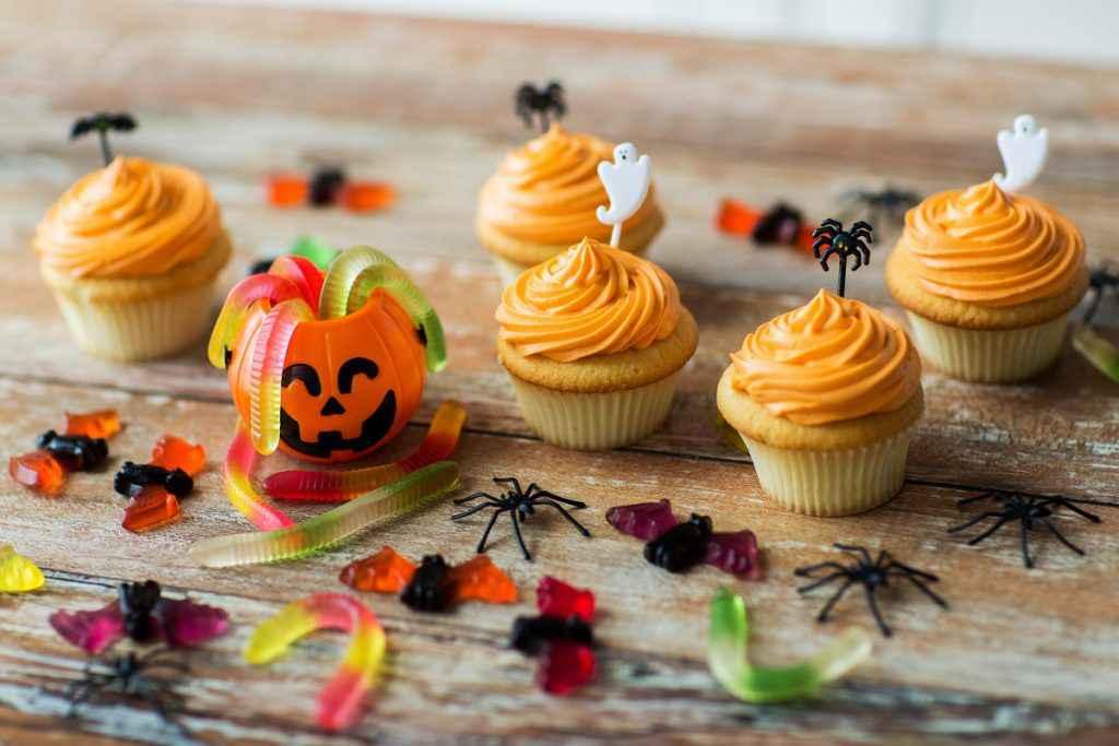 Cupcake arancioni di Halloween