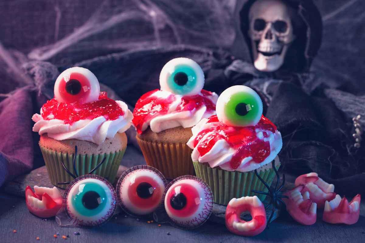 Cupcake occhi strappati per Halloween