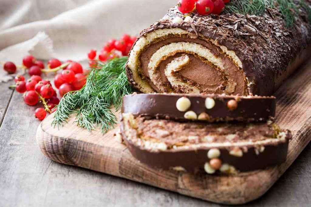 Tronchetto dolce di Natale