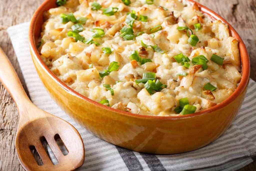 Baccalà con patate alla vicentina fatto al forno
