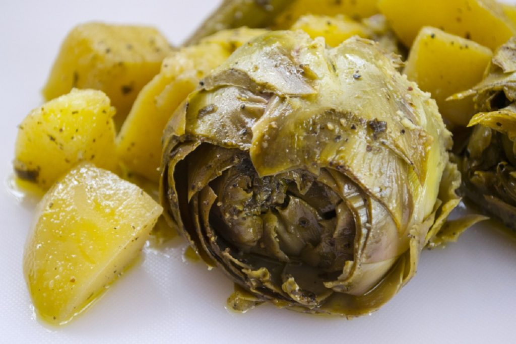 carciofi e patate