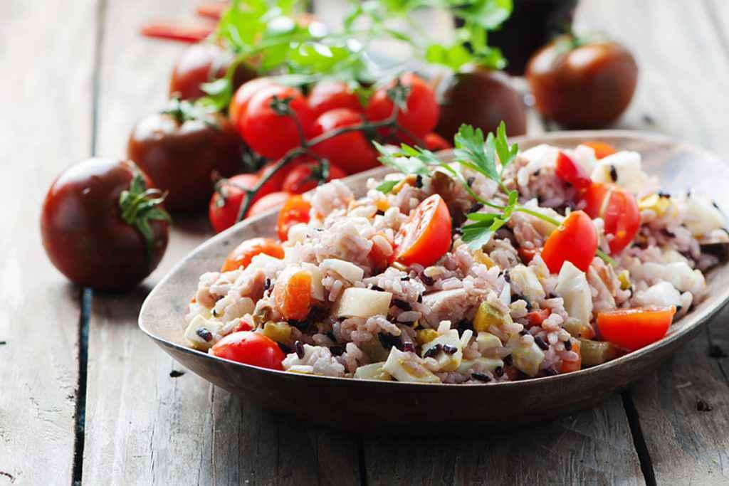 Insalata di riso mediterranea