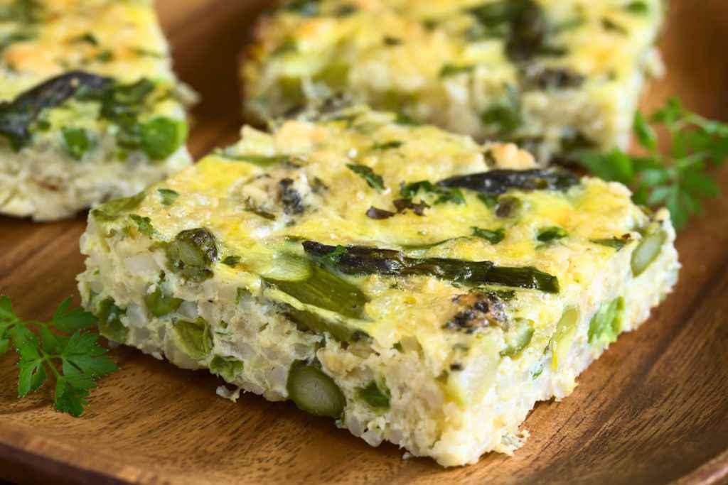 Frittata verde con verdure