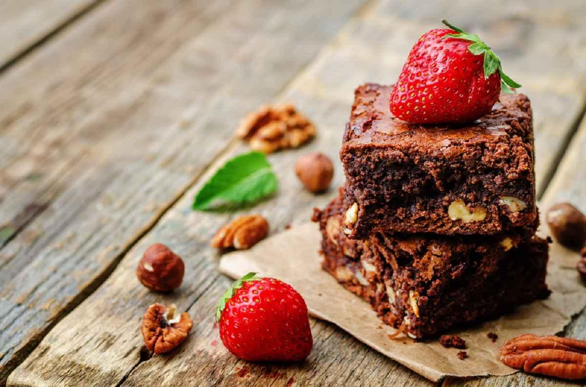 brownies con noci e cioccolato
