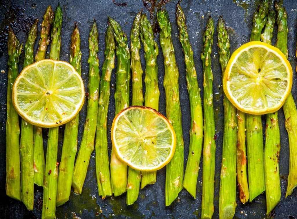 Cottura degli asparagi al forno