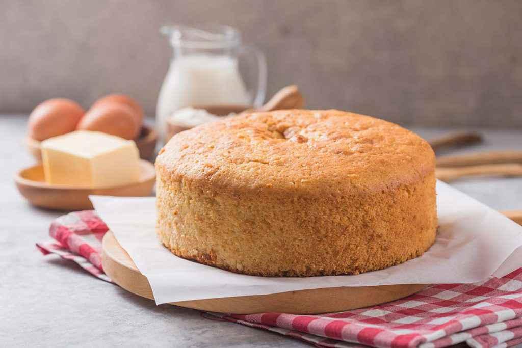 Torta pan di Spagna fatta con il Bimby