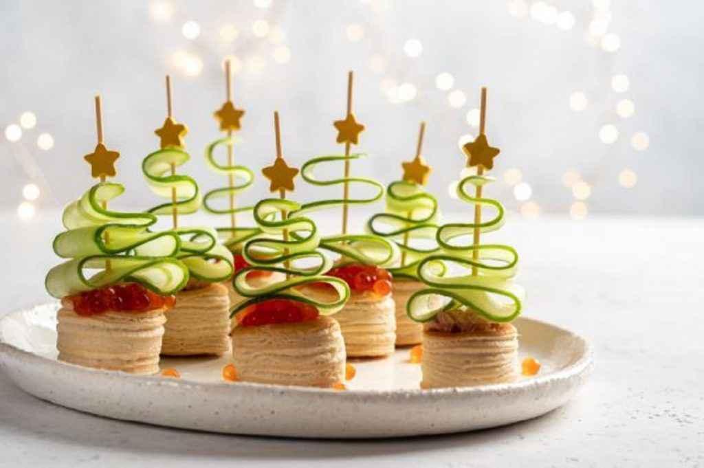 Antipasti del menu di Natale per bambini