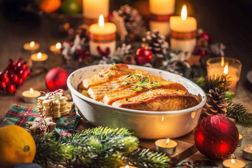 Cenone di Natale, salmone al forno