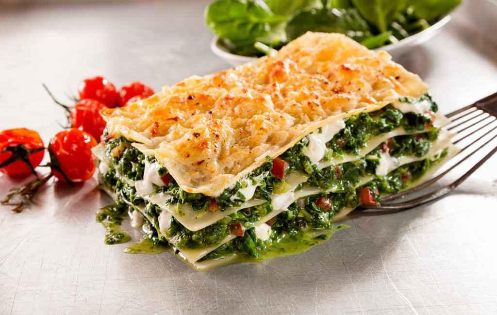 Lasagna al forno verde