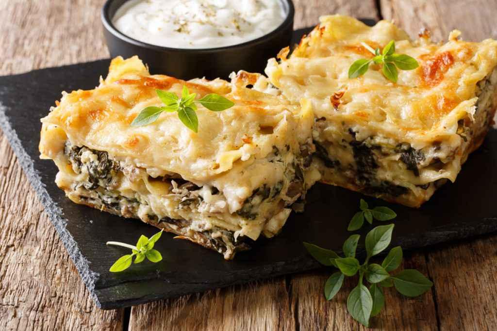 Lasagne funghi e formaggio