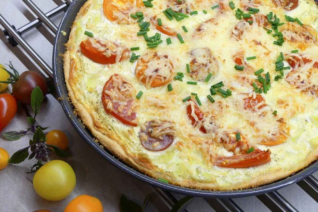 pizza rustica con verdure