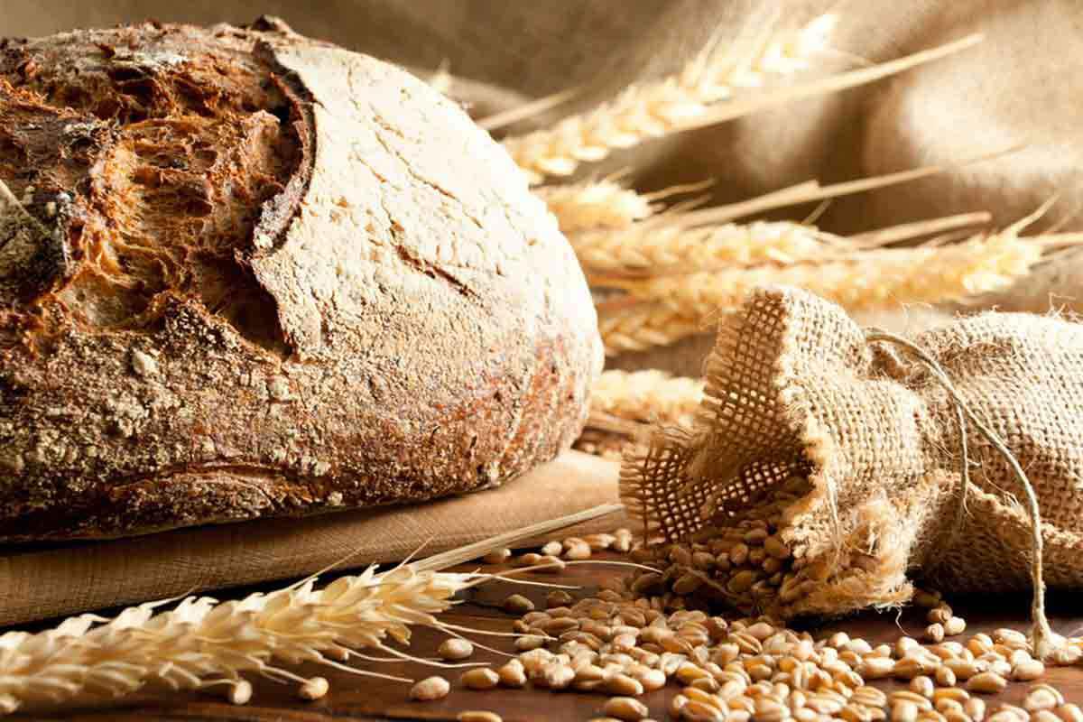 Pagnotta di pane casareccio fatto in casa
