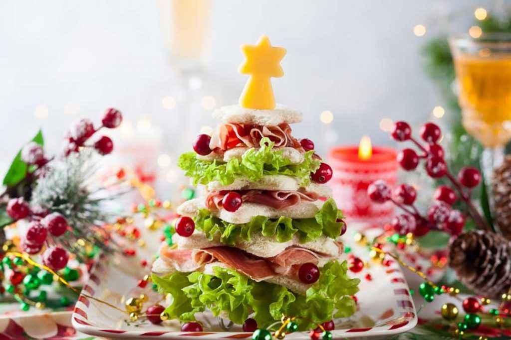 Albero di Natale gastronomico salato