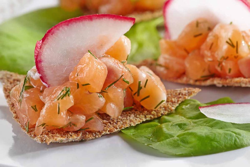 Tartare salmone e aneto