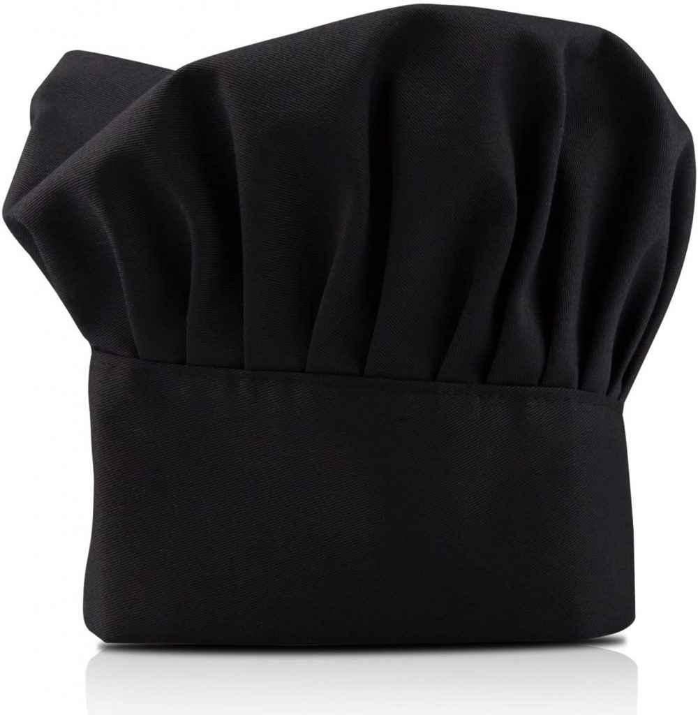 Cappello da chef nero
