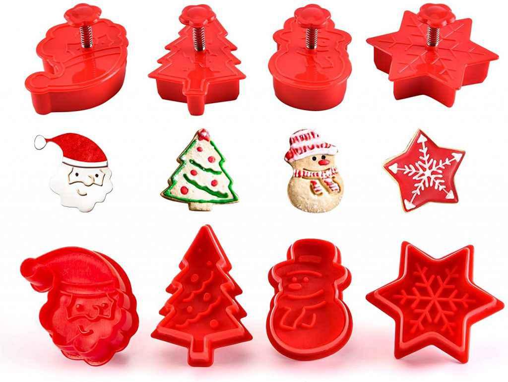 Formine in silicone per biscotti natalizi
