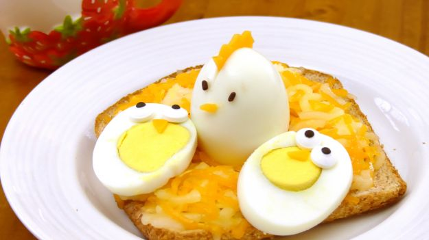 Uova sode a pulcino