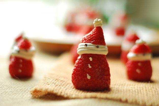 Babbo Natale di fragole e panna