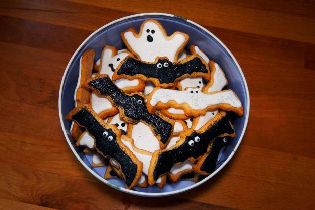 Biscotti pipistrello di Halloween