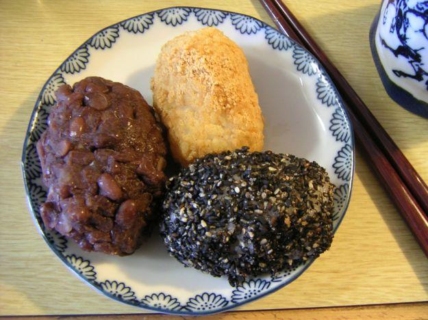 Botamochi dolcetti cucina giapponese