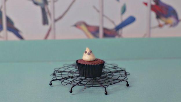Cupcake fantasmino per Halloween
