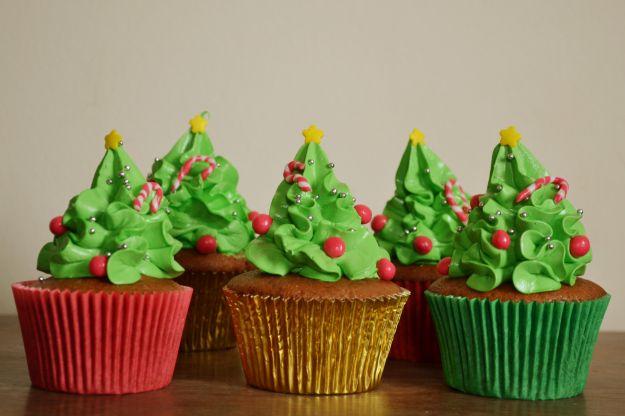 Cupcakes alberi Natale