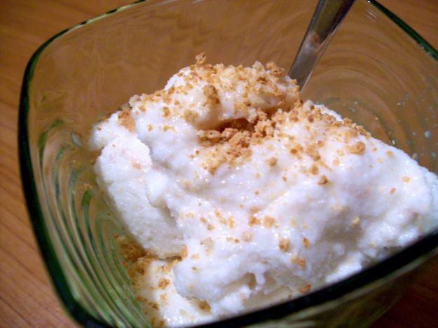 gelato al fiordilatte, nocciole e amaretti bimby