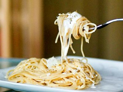 Spaghetti allo yogurt